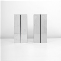 pedestal floor lamps/stands (pair) by neal small
