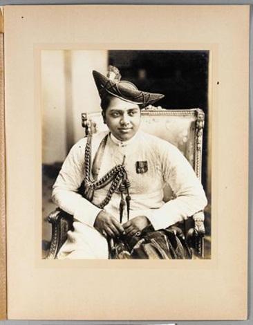 maharaja of gwalior 2 studies 1 sgd 1 stamped by r l desai