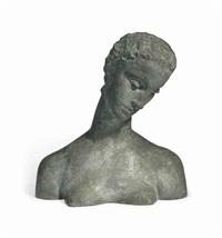büste der knieenden (geneigter frauenkopf) by wilhelm lehmbruck