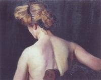 lyshåret rygvendt model by gyula basch