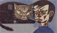 conflicto entre gato y nino by francisco amighetti