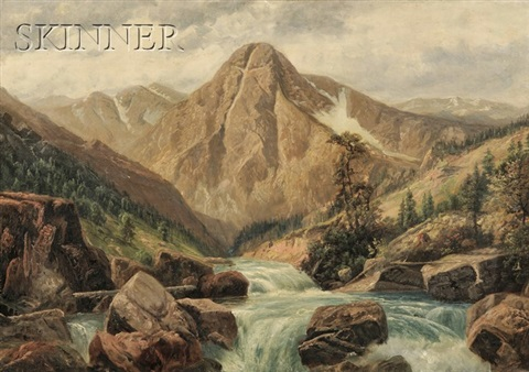 rocky mountain landscape by henry howard bagg