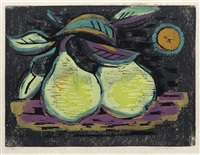 still life with pears by werner drewes
