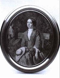 junge dame auf einer parkbank by georg raab