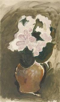 les fleurs violets (vase de fleurs) by georges braque