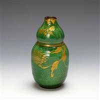 a sake bottle by fujimoto yoshimichi