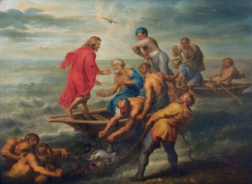 der wunderbare fischzug des petrus by jacob andries beschey