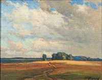 summer afternoon near dundee, illinois by frank charles peyraud
