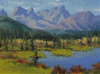 highwood pass by robert edward wood