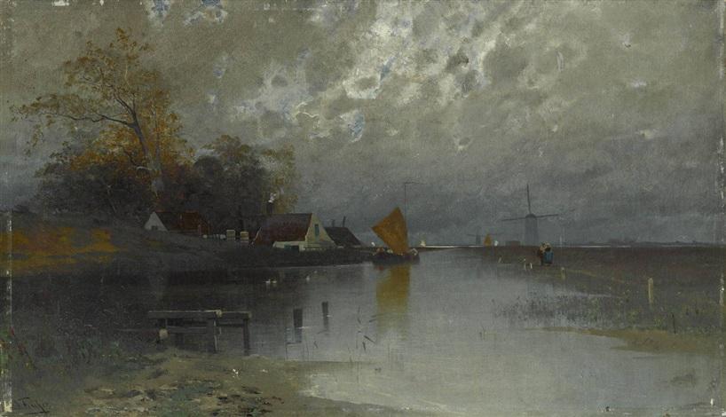 holländisches fischerdorf by eduard fischer