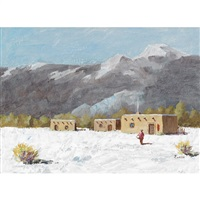 village, american southwest by william paterson ewen