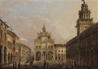 ansicht von cento, italien by antonio basoli