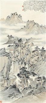 云山胜览图 (misty mountain) by chen banding