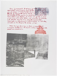 traces suspectes en surface (portfolio of 41) by robert rauschenberg