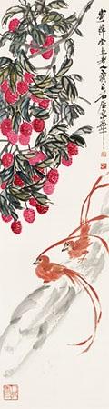 荔枝绶带 by qi baishi