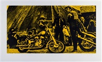 easy rider (yellow) by russell young