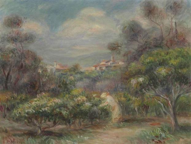 paysage près de cagnes by pierre auguste renoir