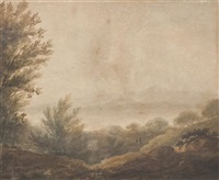 wooded river by alexander nasmyth