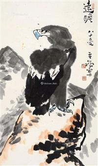 远瞻 立轴 纸本 by li kuchan