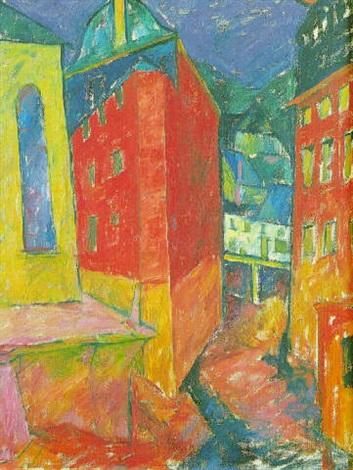 Rote Häuser Bilder rote häuser in einer stadt by walter ophey on artnet