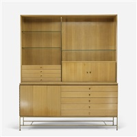 cabinet with hutch from the irwin collection by paul mccobb
