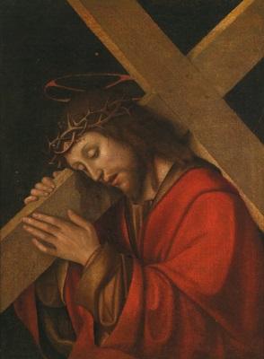der kreuztragende christus cristo portacroce by gian francesco de maineri