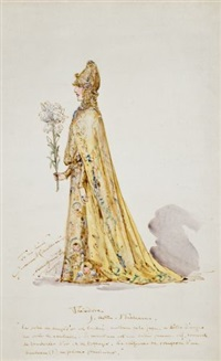 costumes (2 designs for sarah bernhardt in the role of théodora) by walter e. spindler