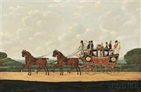 messrs. j. moseley & t. fuller's london-eastbourne coach by john cordrey