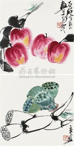 花果 2 works by qi liangji
