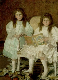 lorna and dorothy bell, daughters of w. heward bell, esq. by walter daniel batley