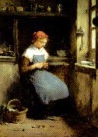 femme dans sa cuisine by paul constant soyer