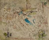 le couple ou déjeuner sur l'herbe by francis gruber