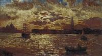 tramonto a venezia by beppe ciardi