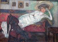 portrait de femme alanguie by ritter