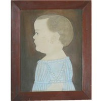 portrait of charles churchill damon of ashby, massachusetts, age 1 year by ruth henshaw miles bascom