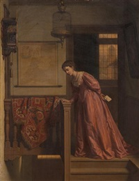 woman at the stairs by charles joseph grips