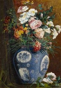 blumenstillleben in einer vase by eva alexandre