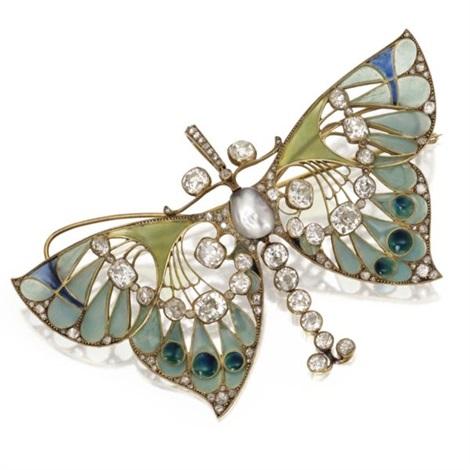 butterfly pendant brooch by henri vever
