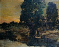 evening landscape by miles jefferson early