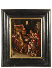 christ with the temple priest by marten de vos