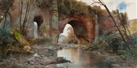 an old aqueduct by ettore roesler franz