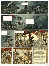 outlaw, pl.24 (from jupons et corbillards) (+ color sheet; 2 works) by xavier fourquemin