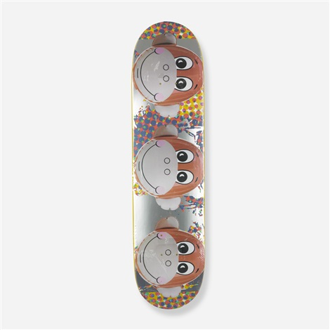 monkey train skateboard deck by jeff koons