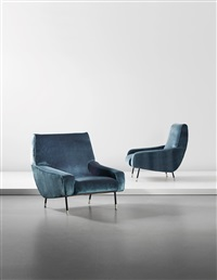 armchairs, model no. 857 (pair) by ico parisi