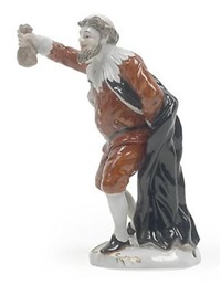 pantalone hält geldsack in der rechten by porzellanmanufaktur rudolstadt-volkstedt