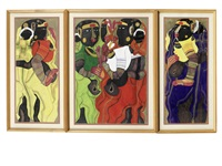 untitled (triptych) by thota vaikuntam