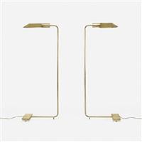 floor lamps, pair by cedric hartman