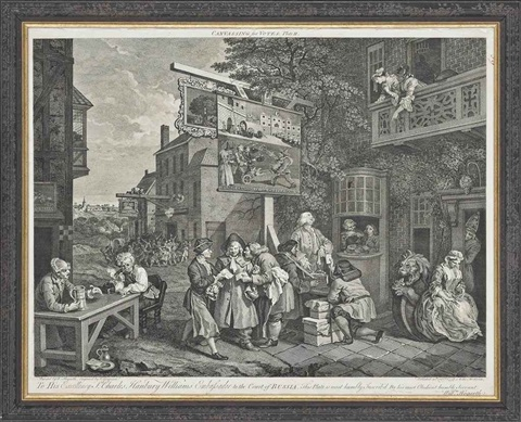 an election entertainment (from the election series) (+ 5 others; 6 works) by william hogarth