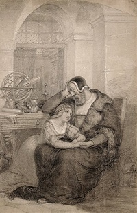 faust und gretchen in der studierstube by hermann buge