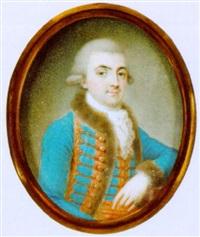 halbbildnis eines herrn in ungarischer uniform by johann eusebius alphen